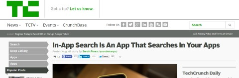 The Start of In-App Search Apps and Why We Should Pay Attention